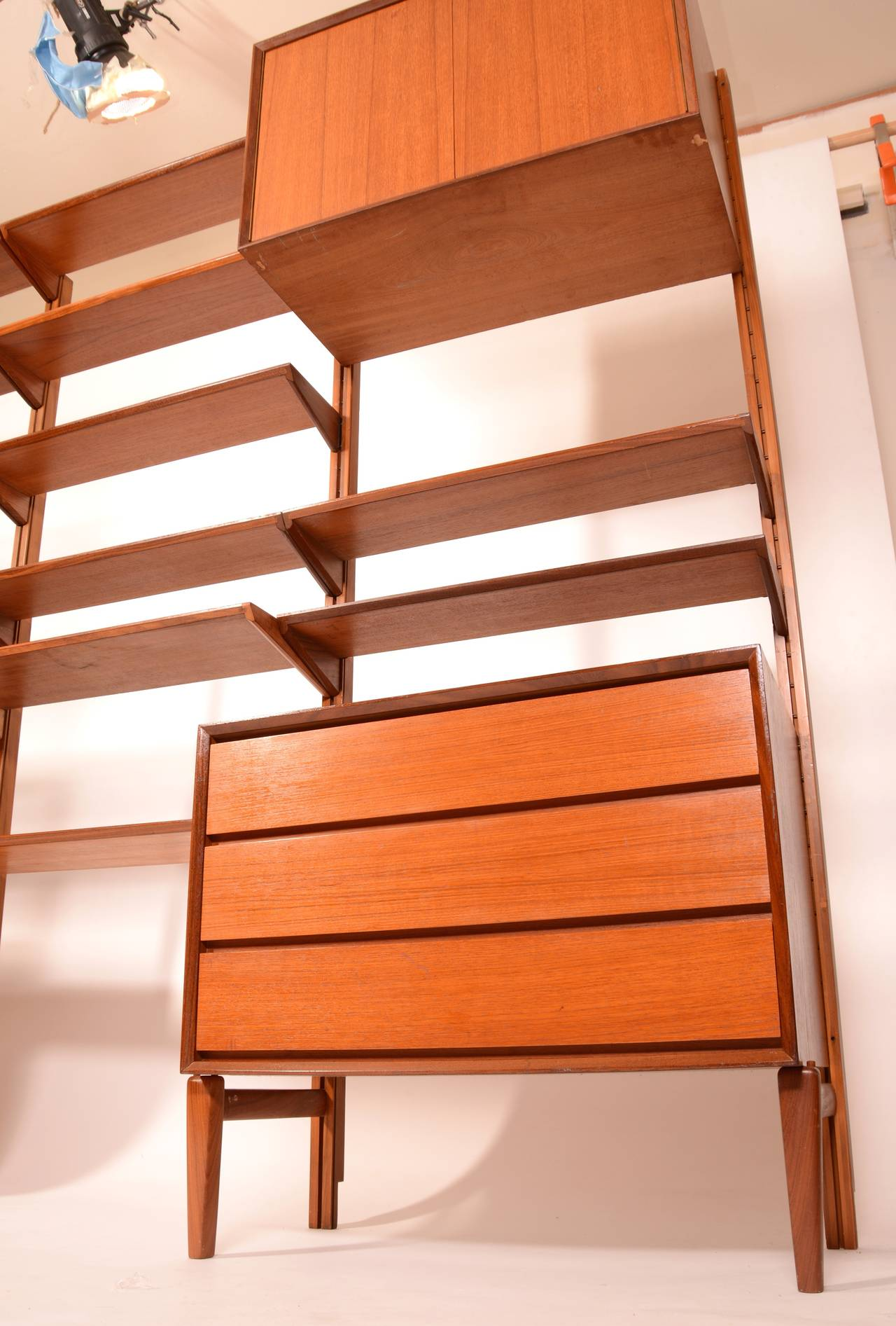 This Is A Great Freestanding Scandinavian Modern Wall Unit Made From  Beautifully Selected Teak Veneer Over