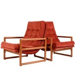 Milo Baughman for Thayer Coggin High Backed Scoop, Cube, Sling Lounge Chairs