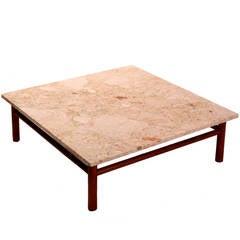 Marble-Top Coffe Table by T.H. Robsjohn Gibbings for Widdicomb