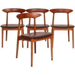 Four Danish Modern Dining Chairs by Kurt Østervig