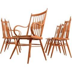 """Set of Six Kipp Stewart for Drexel """"Centennial"""" Chairs"""
