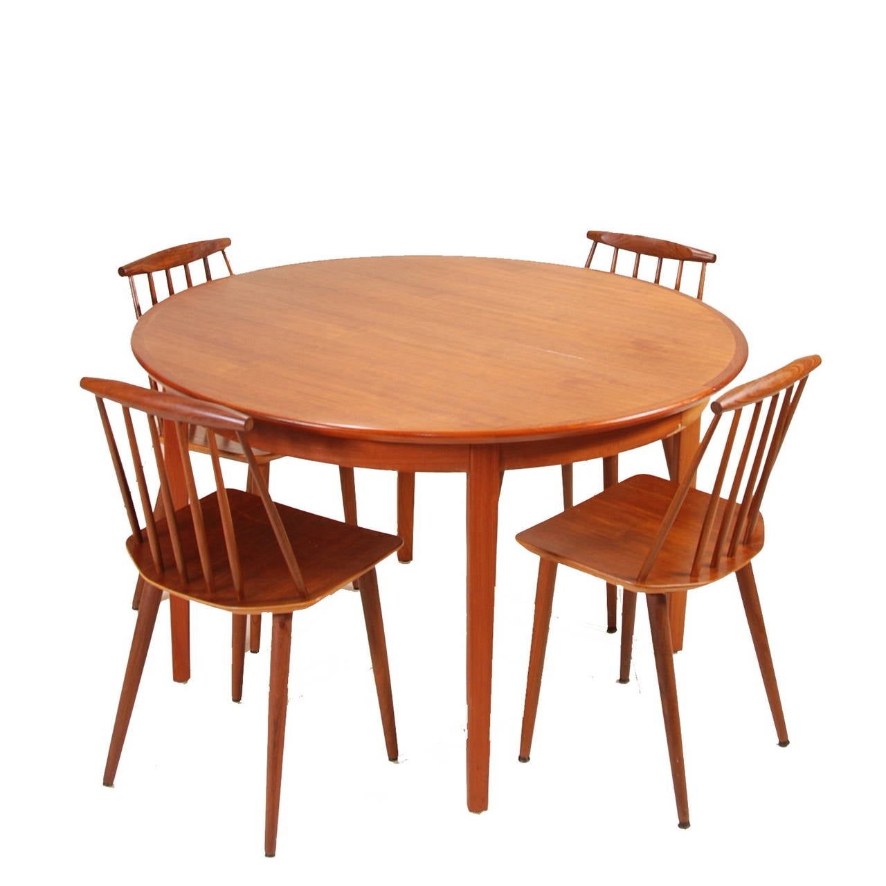 Large danish modern dining table in teak at 1stdibs for Big modern dining table