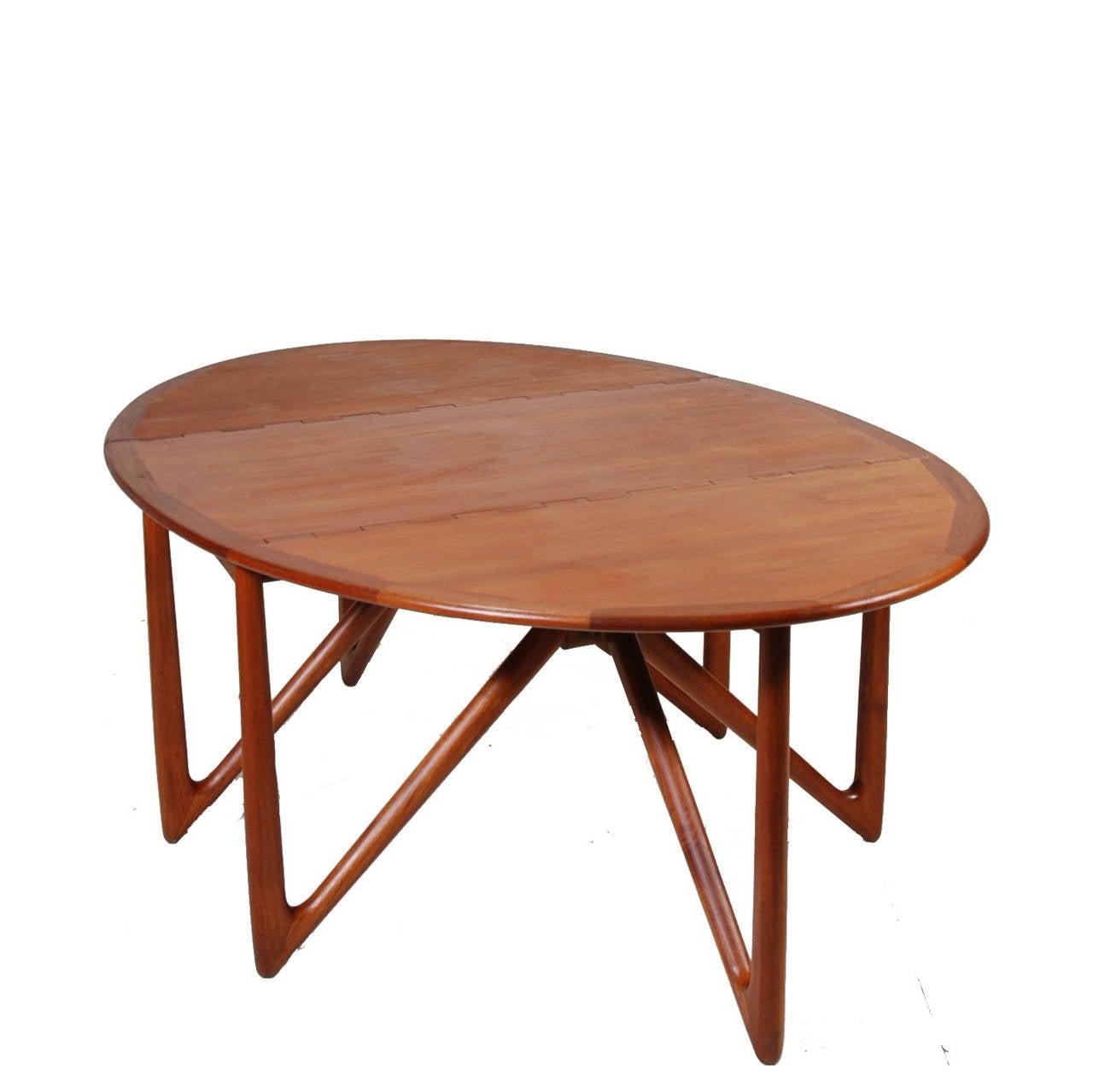 mid century modern dining table no 304 in teak by niels kofoed at 1stdibs