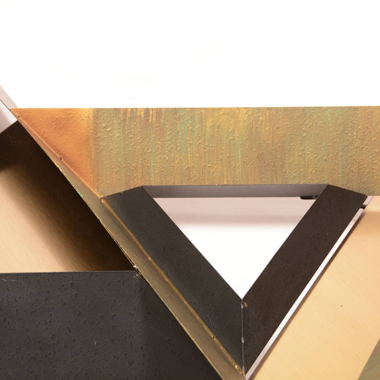 Triangles Wall Sculpture by Curtis Jere In Good Condition For Sale In Los Angeles, CA