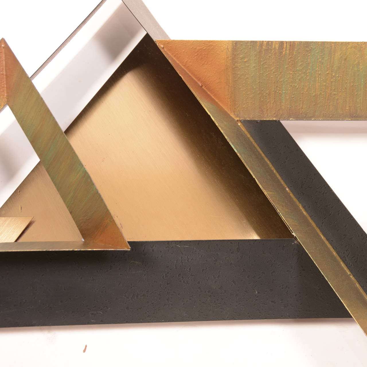 Late 20th Century Triangles Wall Sculpture by Curtis Jere For Sale