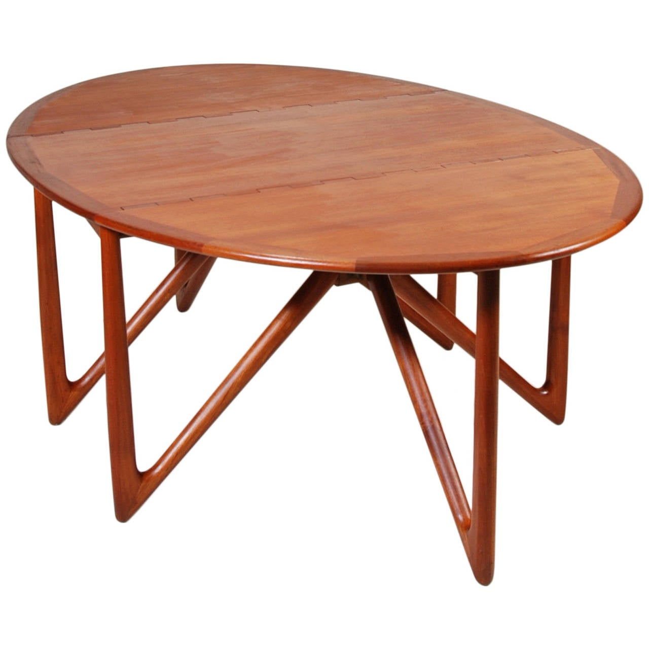 mid century modern dining table no 304 in teak by niels kofoed at 1stdibs