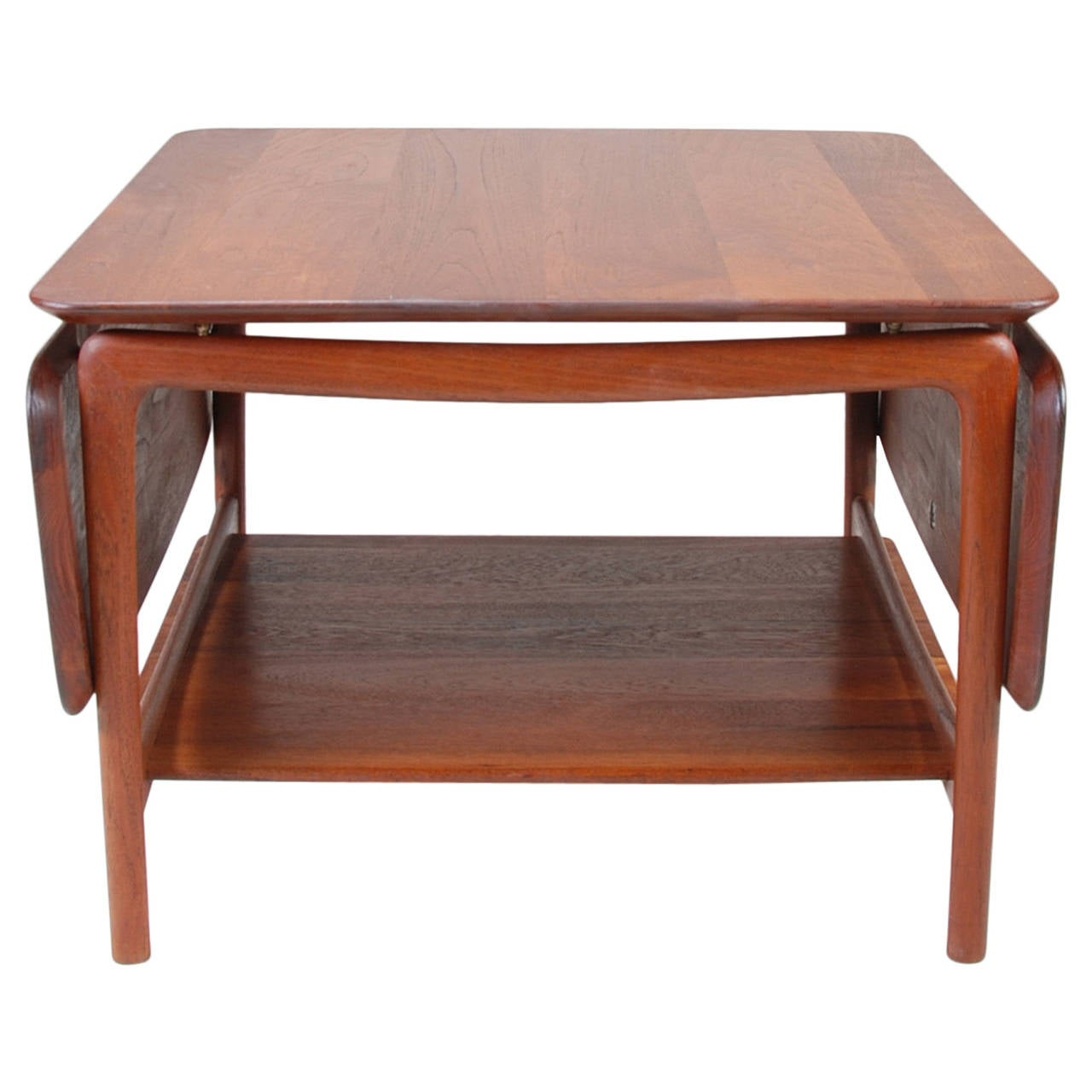 Solid Teak DropLeaf Coffee Table by Peter Hvidt for John Stuart