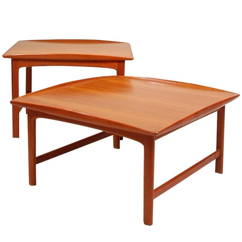 Pair of Folke Ohlsson for DUX Teak Table Set