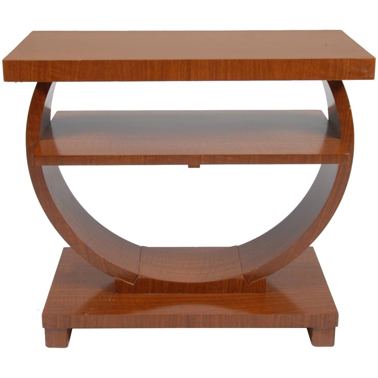 Brown saltman art deco end table - Table de nuit art deco ...