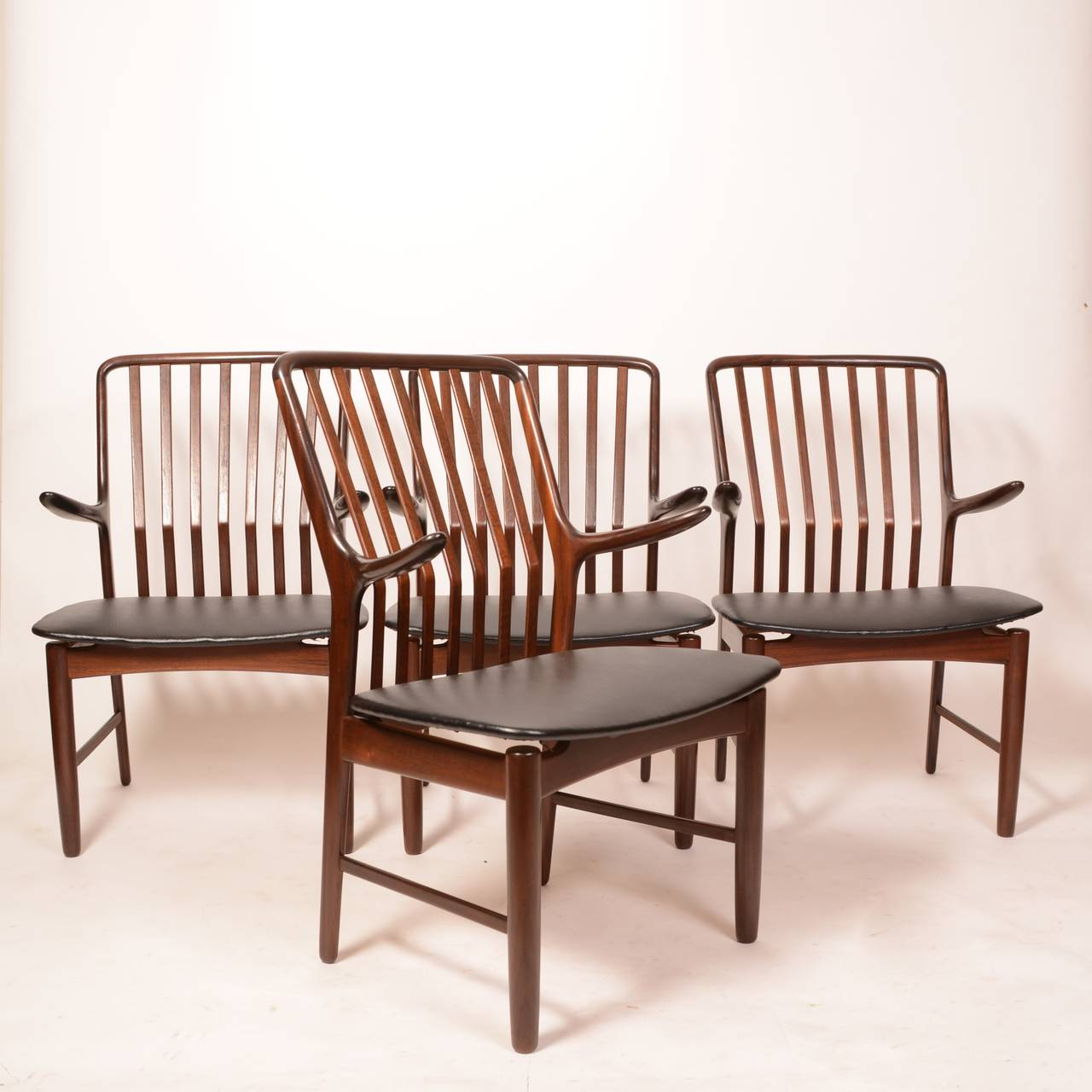 Danish Arm Chairs by Svend A. Madsen for Moreddi, Set of 2 For Sale 4
