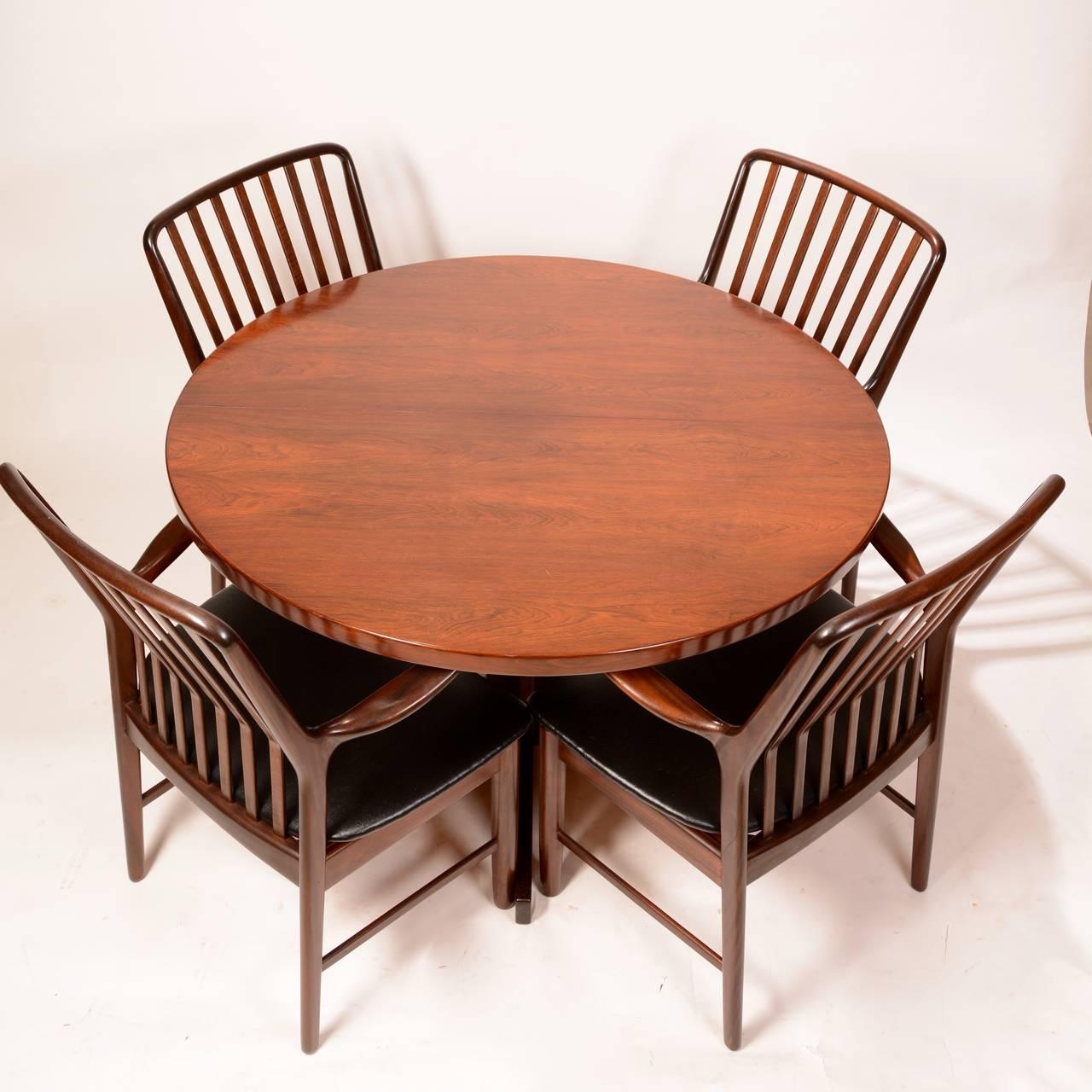 Mid-Century Modern Skovmand & Andersen for Moreddi Rosewood Dining Table 6
