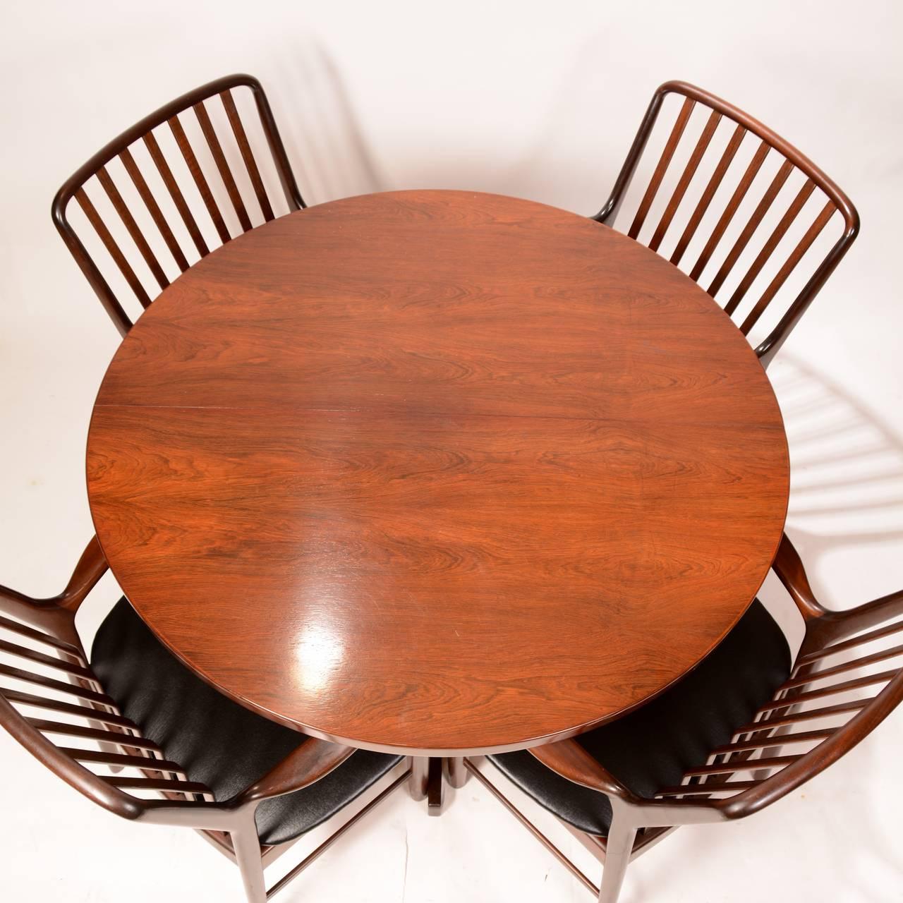 Mid-Century Modern Skovmand & Andersen for Moreddi Rosewood Dining Table 7