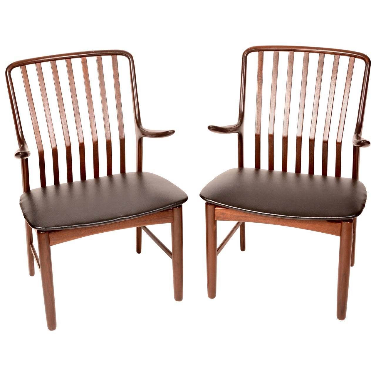 Danish Arm Chairs by Svend A. Madsen for Moreddi, Set of 2 For Sale