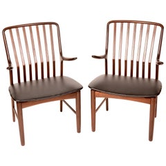 Danish Arm Chairs by Svend A. Madsen for Moreddi, Set of 2
