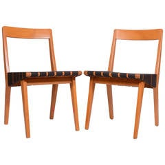 Pair of Jens Risom 666 Side Chairs for Knoll