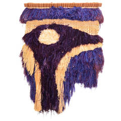 California Fiber Art Textile Wall-Mounted Sculpture by Margo O'Conner
