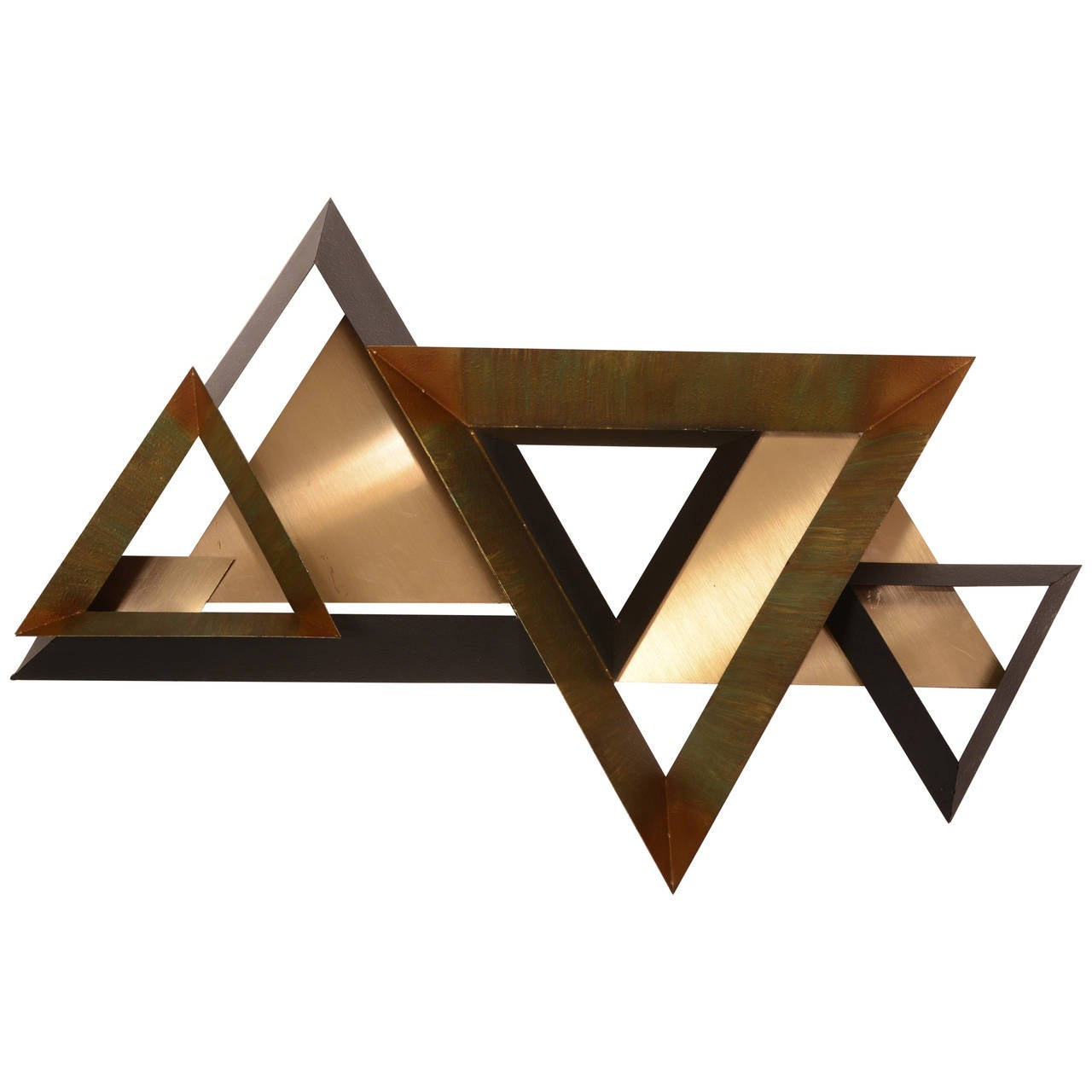 Triangles Wall Sculpture by Curtis Jere For Sale
