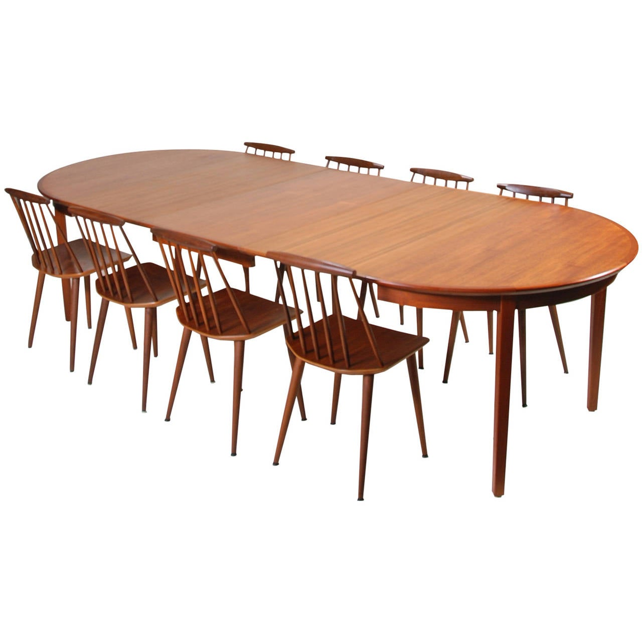 Large danish modern dining table in teak at 1stdibs for Large modern dining table