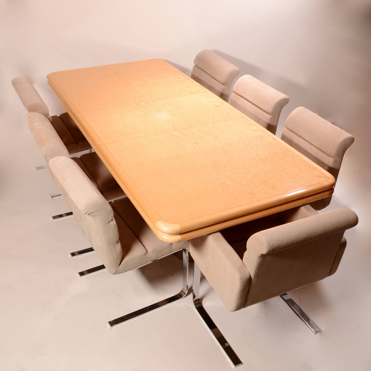 Burl Maple Dining Table Designed by Stanley Jay Friedman for Brueton For Sale 4
