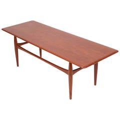 large danish modern coffee table in teak