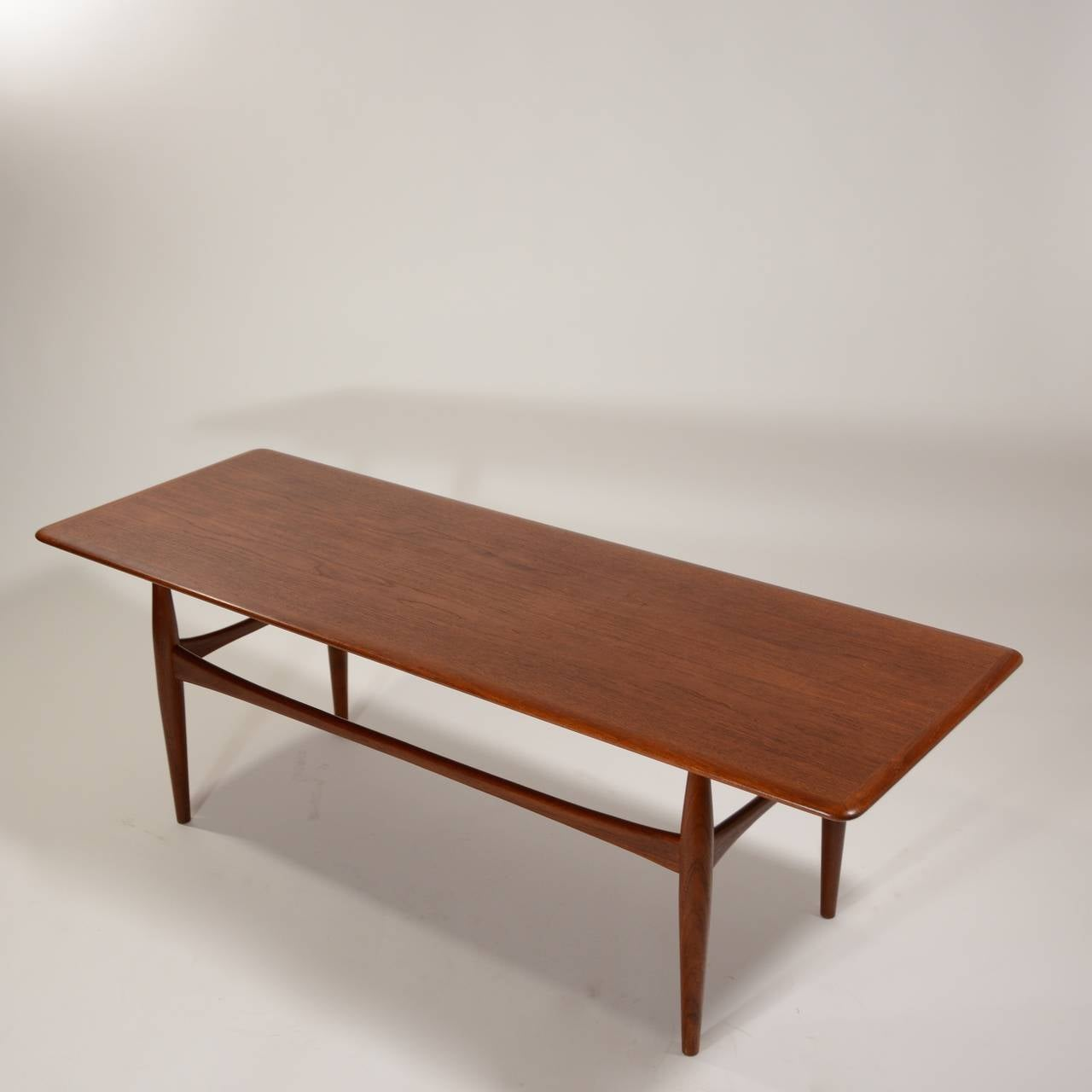 Large danish modern coffee table in teak for sale at 1stdibs for Modern coffee table for sale