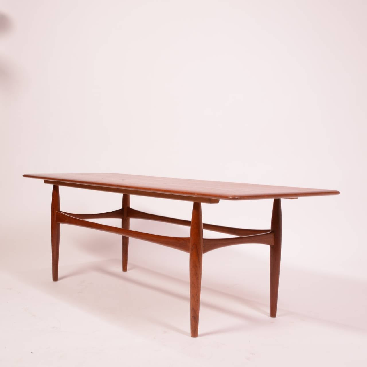 Large danish modern coffee table in teak for sale at 1stdibs for Modern coffee table sale