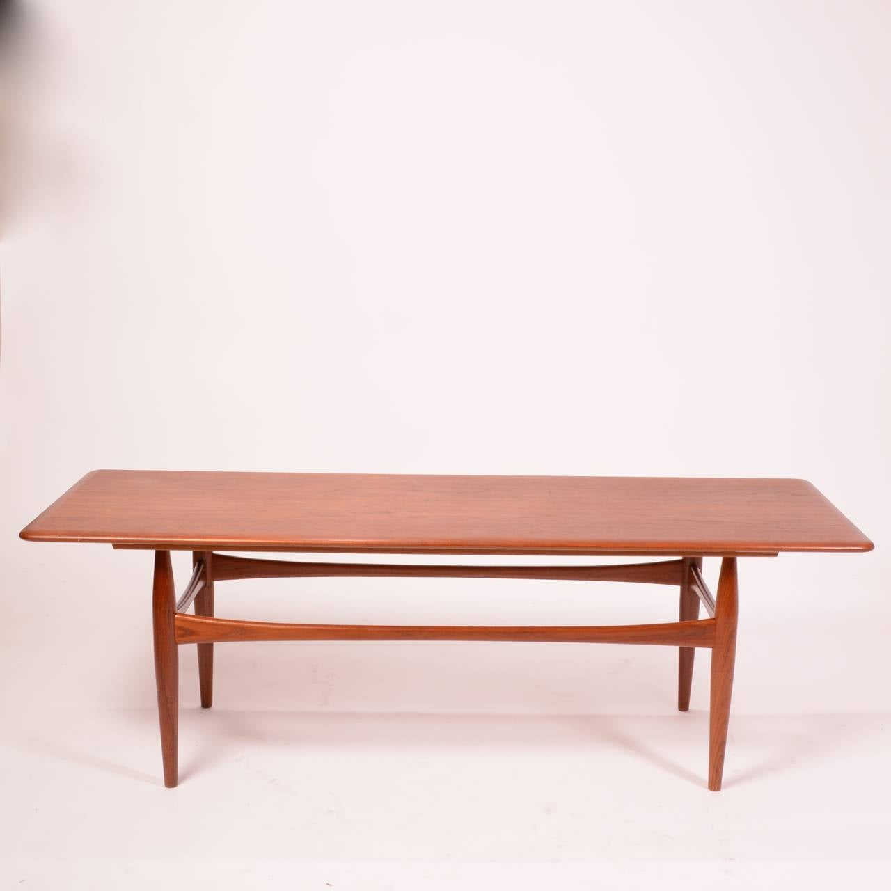 Large Danish Modern Coffee Table In Teak For Sale At 1stdibs