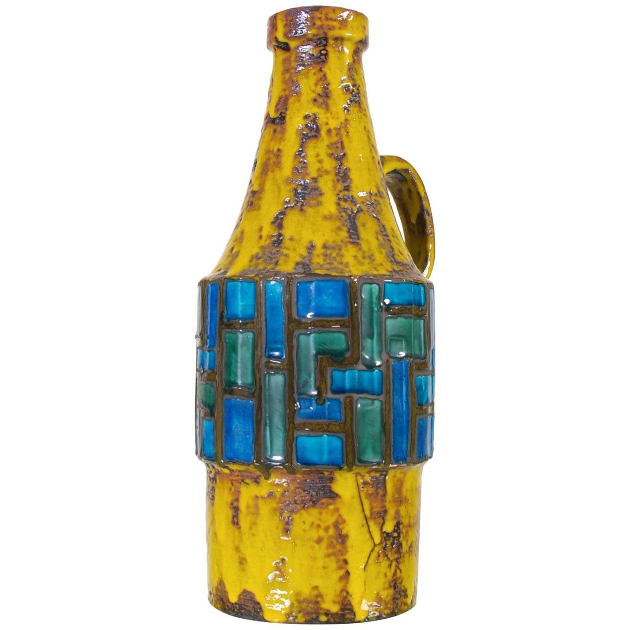 Mid-Century Modern Pottery Vase by Scheurich