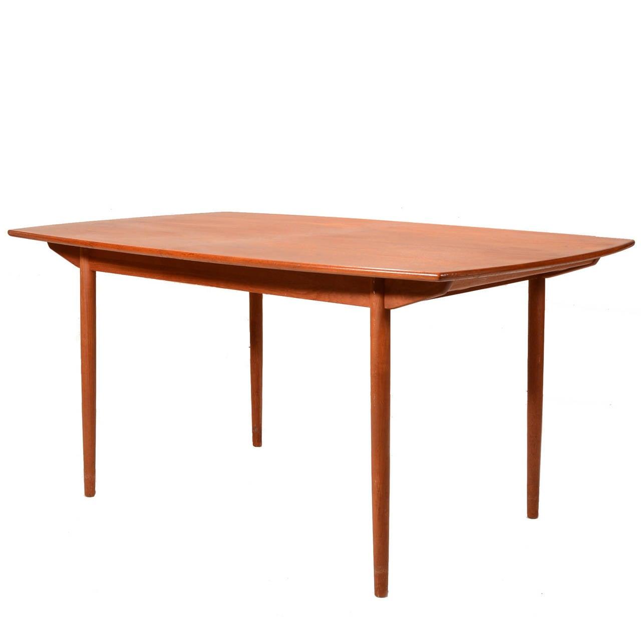 Mid Century Modern Teak Extending Dining Table At 1stdibs