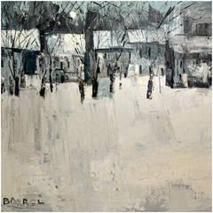 Large New England Winter Landscape by Italo Botti
