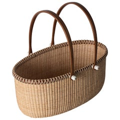 Tall Oval Double Handle Basket by Lucille LaRochelle