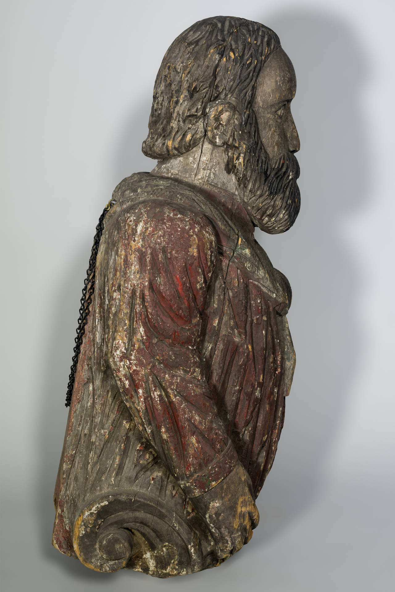 Carved Authentic American 19th Century Figurehead For Sale