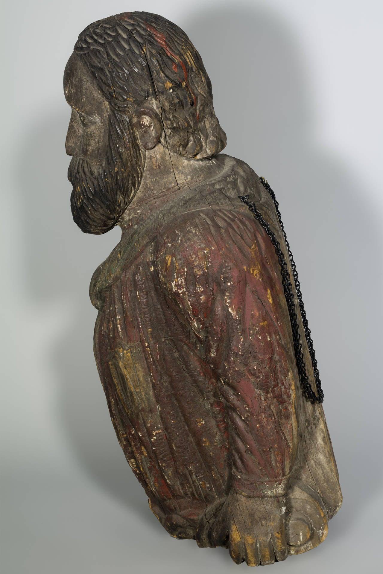Pine Authentic American 19th Century Figurehead For Sale