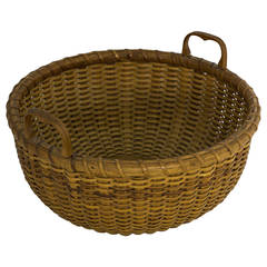 Labeled Nantucket Lightship Sewing Basket Made by Ferdinand Sylvaro, 1935
