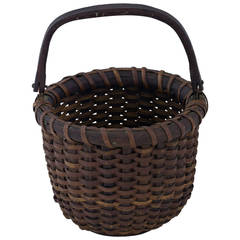 """One Egg"" Nantucket Lightship Basket with Dark Patina"