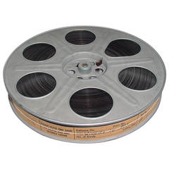 Vintage Movie Reel with Sound Motion Picture Film, Circa Mid 20th. As Sculpture.