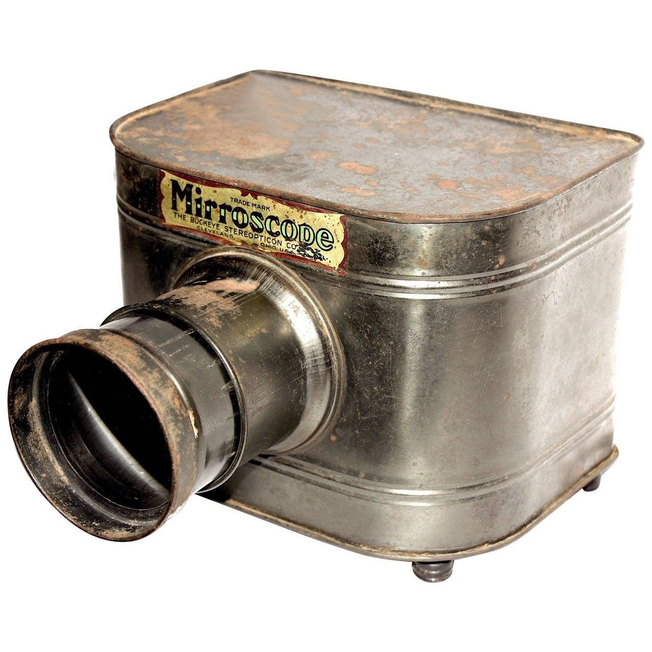 Mirroscope Magic Lantern Opaque Projector Circa 1912 At
