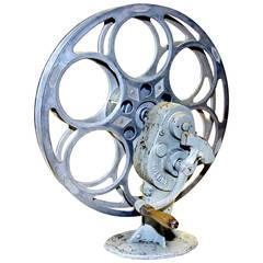 Cinema Rewind With Vintage Film Reel, Circa 1930. As Sculpture. Sold With Film