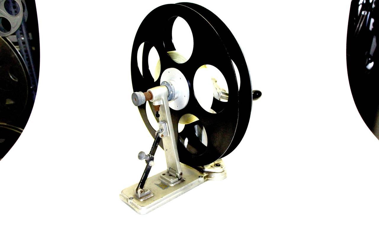 Vintage Hollywood Cinema Film Lab Flange Rewinder Circa