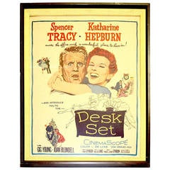 "Movie Poster 1957 ""Desk Set"" Original, Dated/Numbered Tracy And Hepburn. ON SALE"