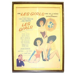 "Original Movie Poster from ""Les Girls"" 1957 by Famous Artist A. Vargas"