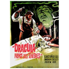 """""""Dracula Prince of Darkness"""" Original Movie Poster in French, 1966"""