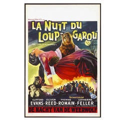"""Belgian Movie Poster from """"The Curse of the Werewolf,"""" circa 1961"""