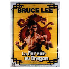 """Movie Poster, """"The Way of the Dragon,"""" French Release, Large Size"""