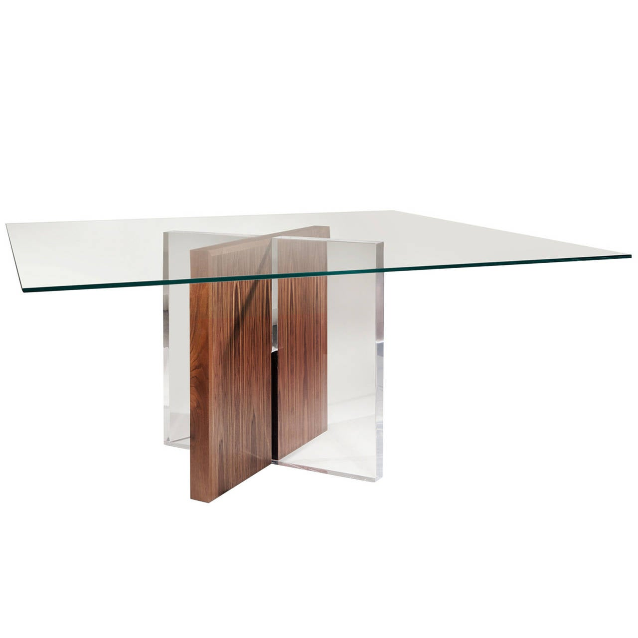 Coexistence Dining Table In Bookmatched Exotic Walnut And