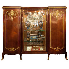 French 19th c biblioteca Vitrine  Display Cabinet, Louis XV style