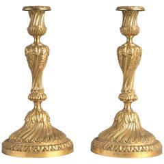 Antique Louis XV Candelabra in Golden Bronze
