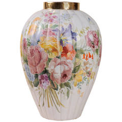 Zaccagnini Vintage  Hand-Painted Vase