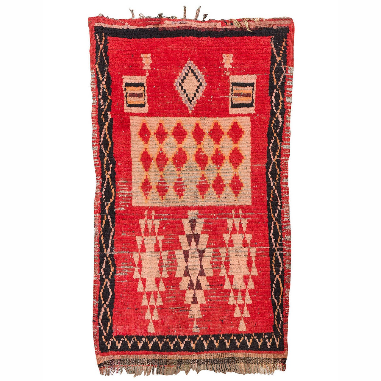 Vintage Ouedzem or Rehamna Rug, Morocco