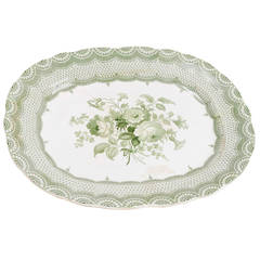 Antique Elegant Large English Platter